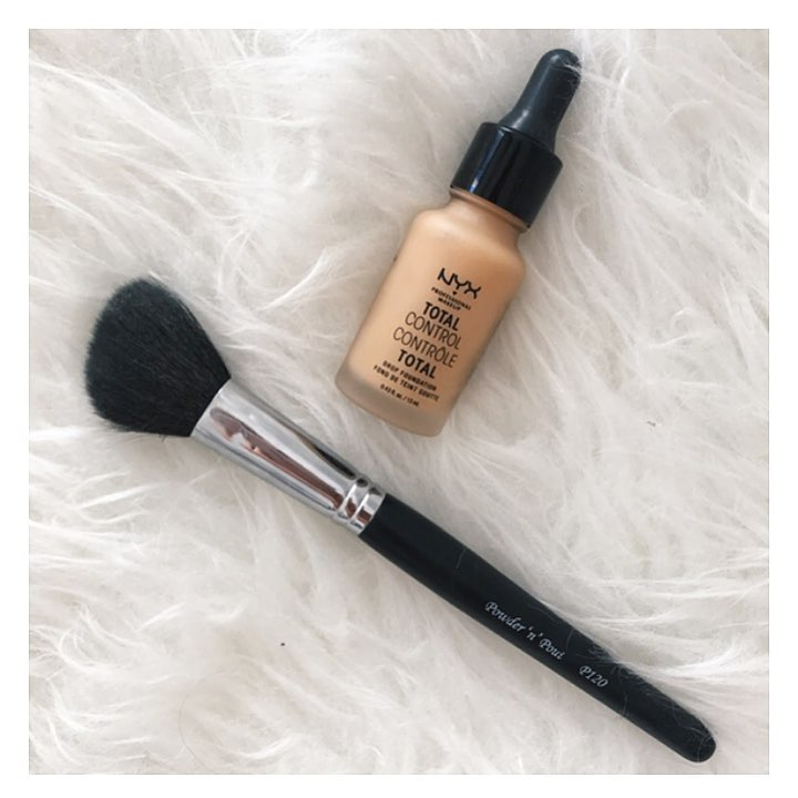 Todays makeup combo Trying out the new nyxcosmetics drop foundationhellip