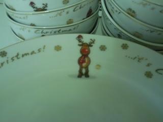 Christmas dinner plate from B&M featuring a cartoon reindeer