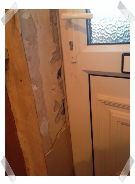 Kitchen woes - took the tiles off and the plaster came off with them