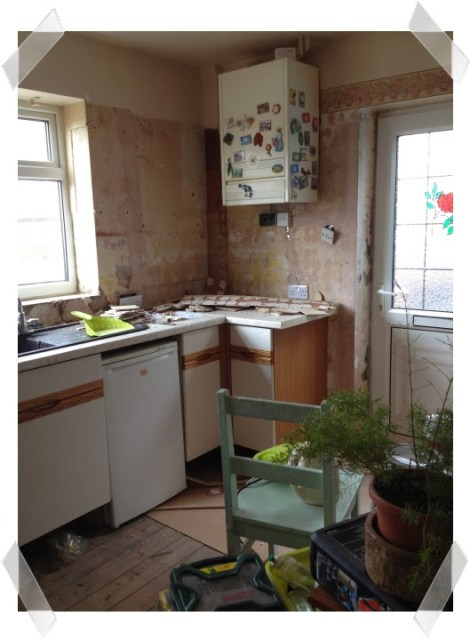 Kitchen woes - the cupboard is back but the walls need plastering