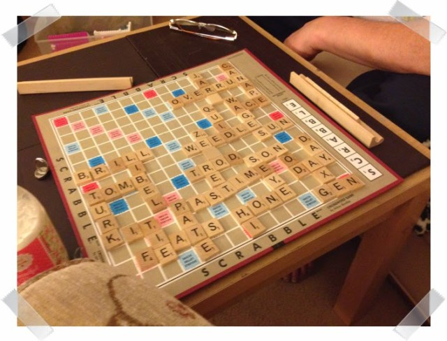 playing Scrabble