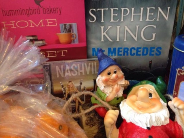 My presents including Mr Mercedes by Stephen King and a Nashville CD
