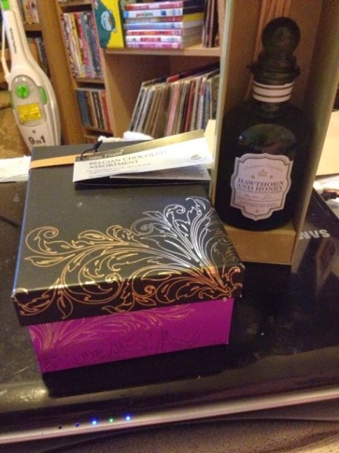 Chocolates and a reed diffuser