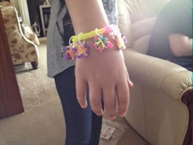 KayCee wearing the bracelet