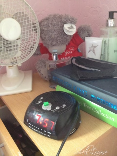 My day in photos - bedside table 8am