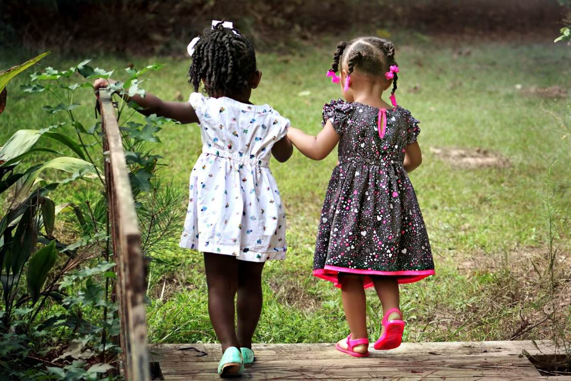 getting fresh air - children playing outside