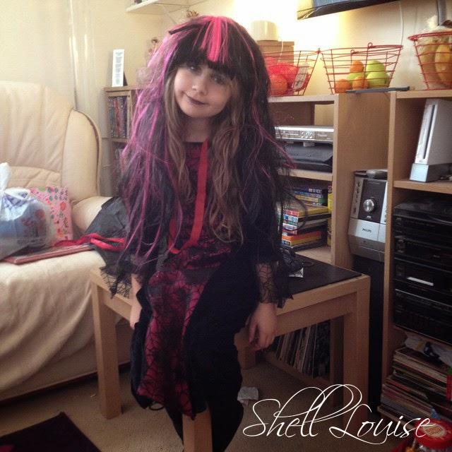 Dear Diary - Ella in her Halloween costume