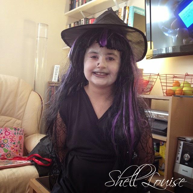 Dear Diary - KayCee in her Halloween costume