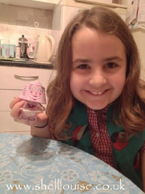 November 30th - KayCee with her bobblehead paper robot