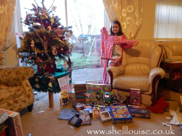 KayCee and her presents