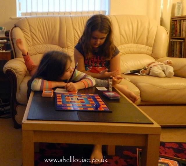 January 10th - Kaycee and Ella playing Tension