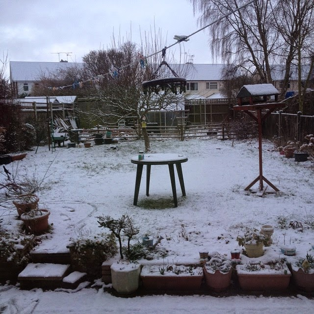A dusting of snow that soon went