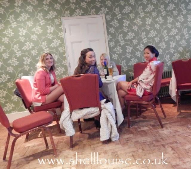 wedding reception - Netty, Gemma, Emily an Elaine