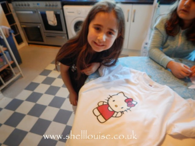 designing t-shirts - Ella and her shirt