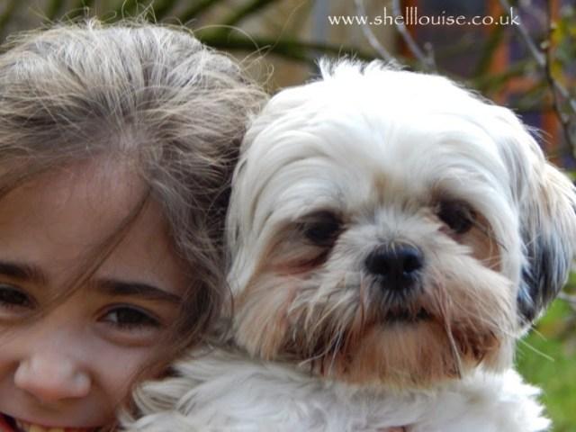 Ella and Chi-Chi the dog