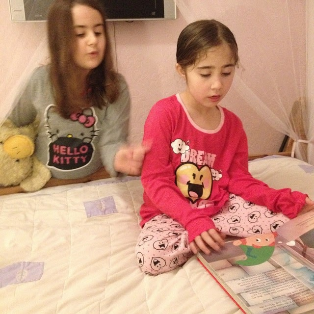 March 8th Kaycee and Ella at bedtime