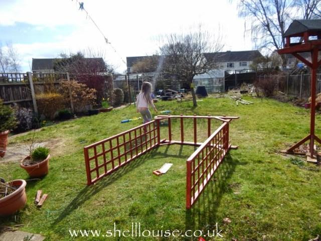 March 28 - Ella in the garden