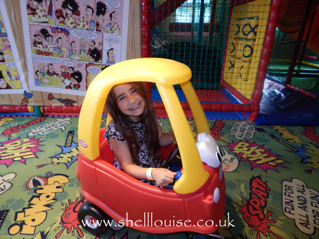 Brewers Fayre Grimsby - Ella in a toy car