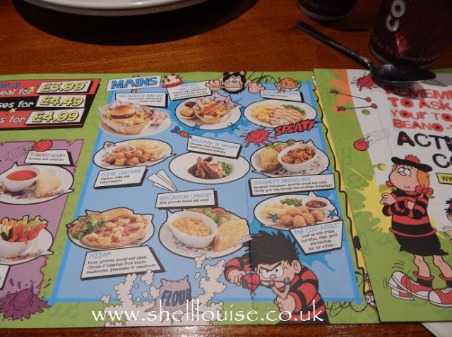 Brewers Fayre Grimsby - children's menu