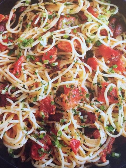 Slimming World all day breakfast spaghetti