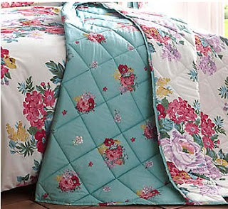 New Bedding - floral throwover