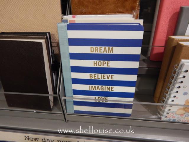 Home Sense - Dream, hope, believe, imagine, love notebook