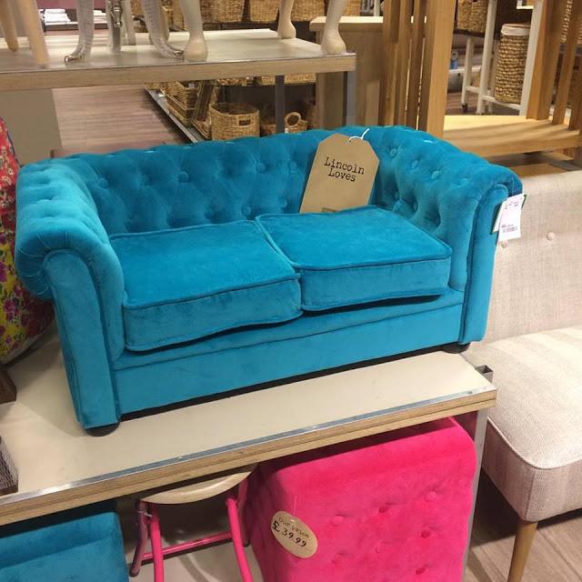 Home Sense - Child size blue sofa