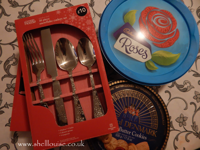 Snowflake cutlery, Chocolates, Danish butter cookies