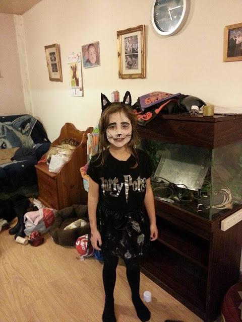 Ella dressed up for Halloween