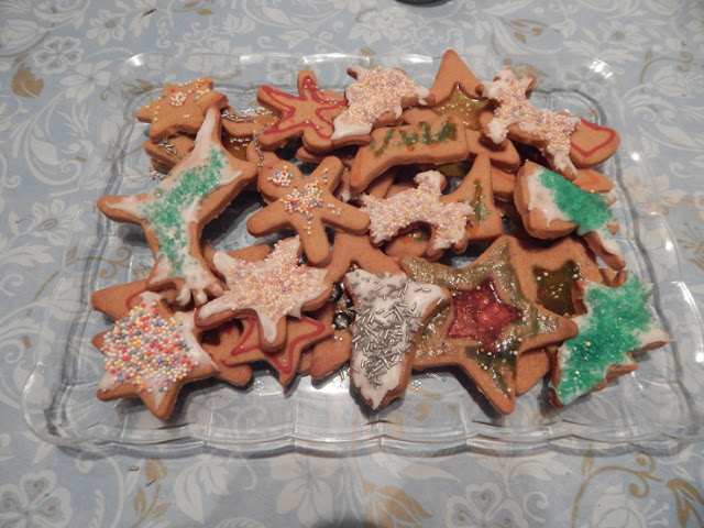 Ella's finished cookies