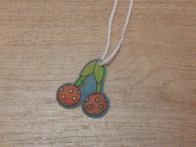 Shrunken cherry necklace