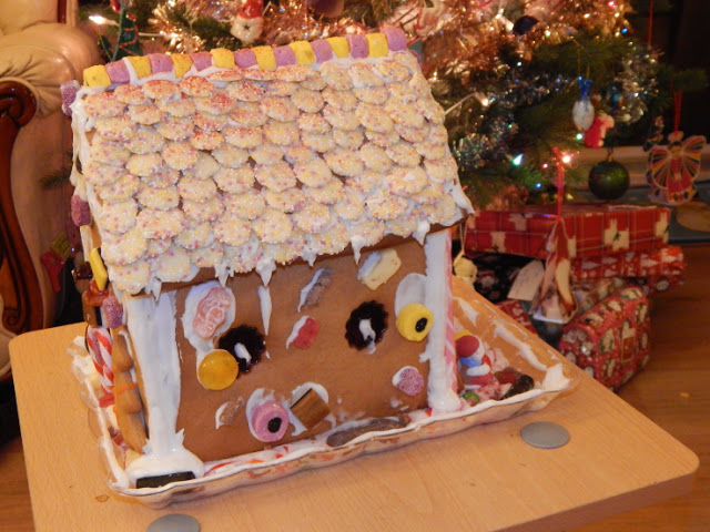 Second side of gingerbread house