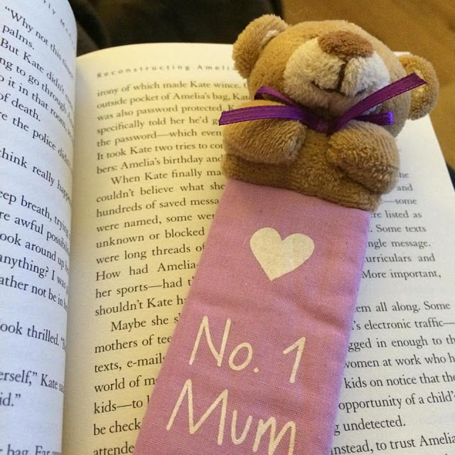 Book and teddy book mark