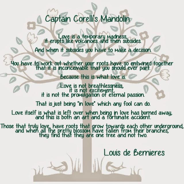 Text from Captain Corelli's Mandolin
