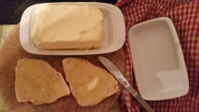 Homemade butter and toasted soda farl