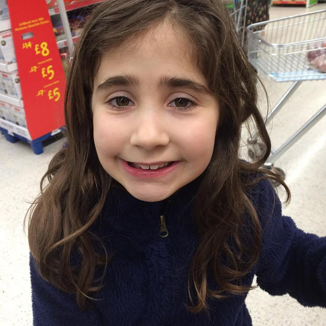 Ella at Asda - 1 day, 12 pics