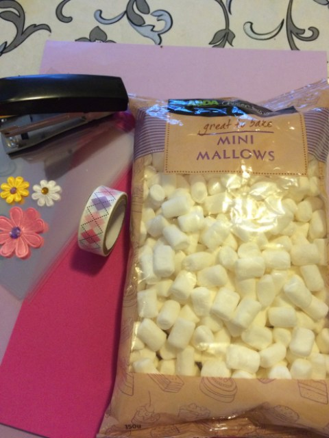 Marshmallows and craft supplies - Easter activity