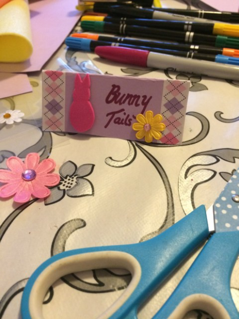 Decorate bunny tails bag header - Easter activity