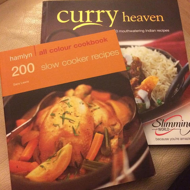 Cookery books from the charity shop