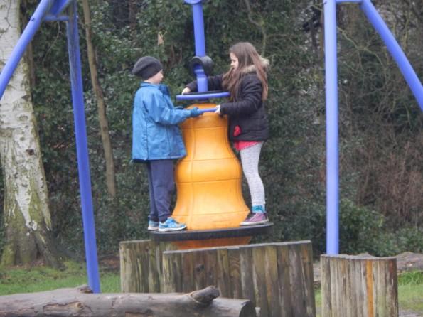 Kaycee and Jake on the park at Hartsholme park