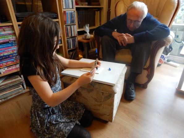 Ella and granddad