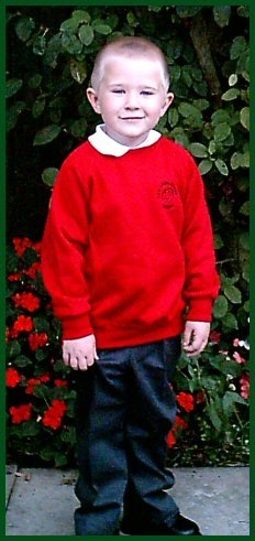 Aiden first day at school