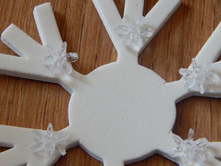 Snowflake foam shape