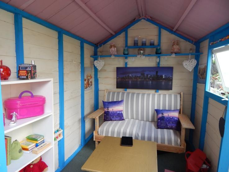 Inside shed #PimpMyShed