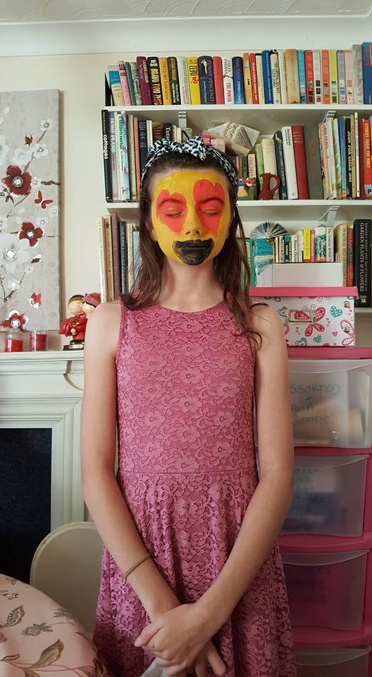 painted emoji faces Katie