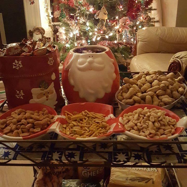 Christmas treat trolley
