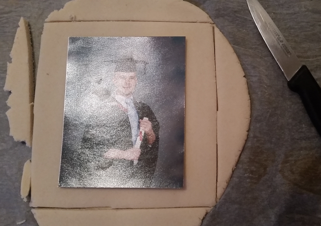 salt dough photo frame