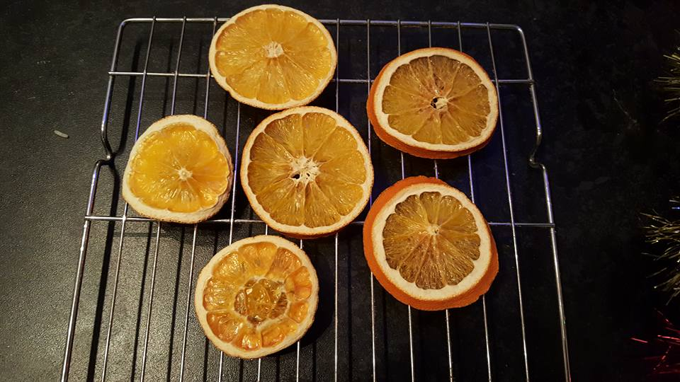 dried orange tree ornaments