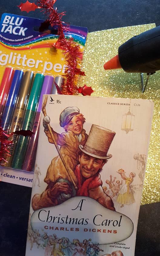 A Christmas carol folded book tutorial