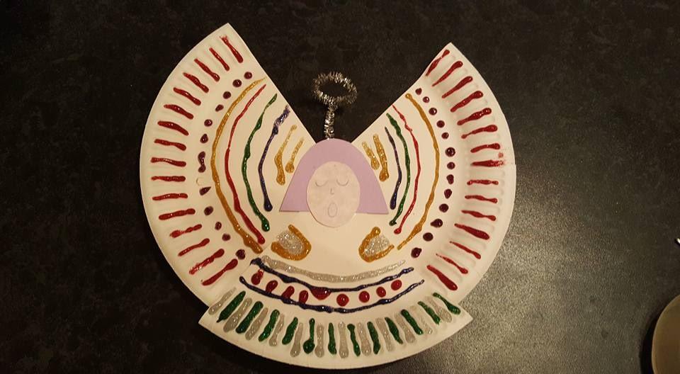 Paper plate angel